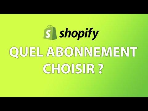 Quel plan, abonnement ou formule choisir pour Shopify ? - Comparaison des offres, prix et tarifs