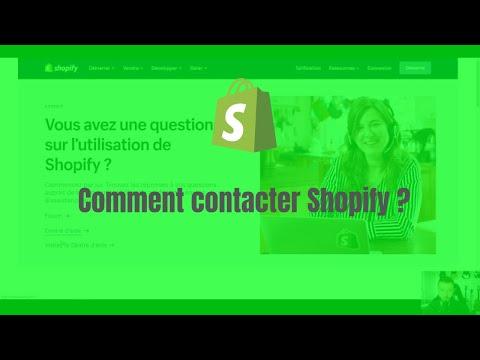 Comment contacter le support Shopify par mail ou téléphone ?