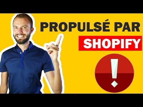 """Comment enlever ou supprimer """"propulsé par shopify"""" ou """"powered by shopify"""" ?"""