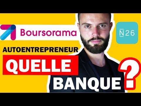 Quelle banque pour un autoentrepreneur en dropshipping ? N26 ou Boursorama ?