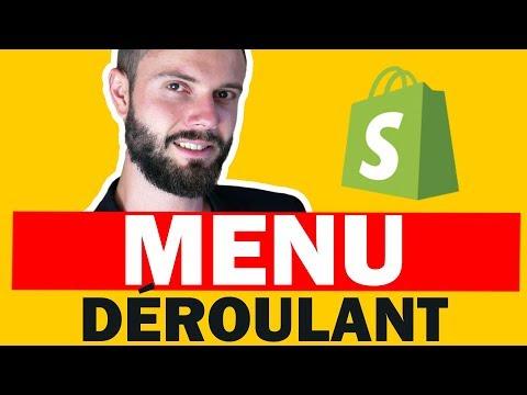 Comment créer un menu déroulant sur shopify gratuitement ?