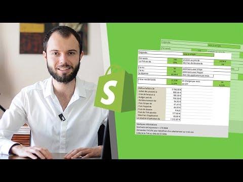Calcul ta rentabilité (frais/charges) en Dropshipping en auto-entrepreneur - tableau excel