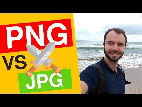 PNG ou JPG pour les photos et images de mon site ?