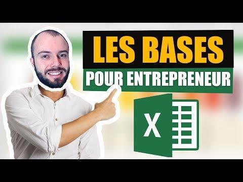 Excel initiation - Les bases pour faire sa comptabilité et son prévisionnel