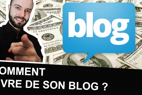 Un blogueur montre comment gagner de l'argent grâce à son blog et en vivre.