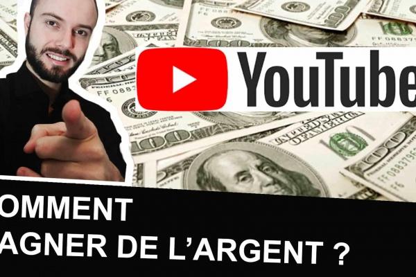 Un youtubeur montre comment gagner de l'argent grâce à youtubeur et vivre de youtube.