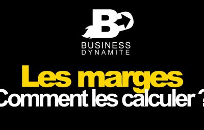 Cette image montre un calcul des marges en dropshipping. On y retrouve un produit en jaune avec un fond noir où on y explique comment calculer les marges dans le dropshipping.