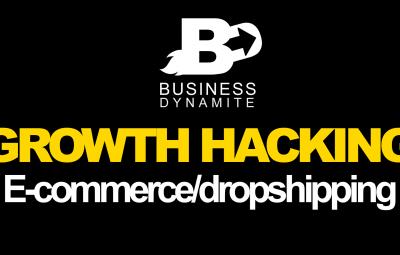 Une image montre des techniques de growth hacking à appliquer dans le e-commerce et le dropshipping.