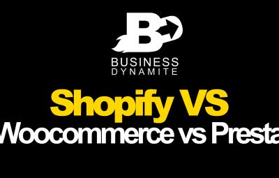 Cette image réprésente Shopify, le cms woocommerce et prestashop sur un tableau des comparaisons