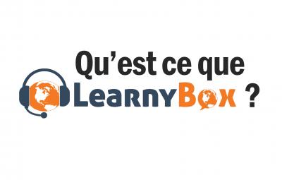 Qu'est ce que learnybox et à quoi ça sert ? Voici le logo de learnybox et son principe sur un fond blanc.