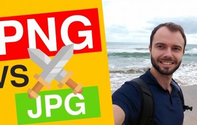 Cette image montre un comparatif entre le png et jpg et pourquoi il faut prendre tel ou tel format pour optimiser les images sur le site internet.