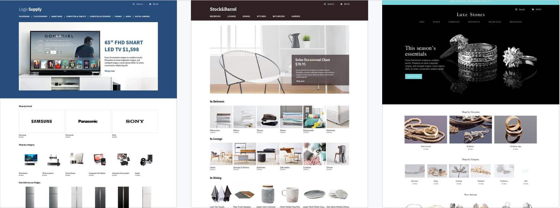 Des exemples des boutiques en ligne ou magasin en ligne réalisés avec Selz.