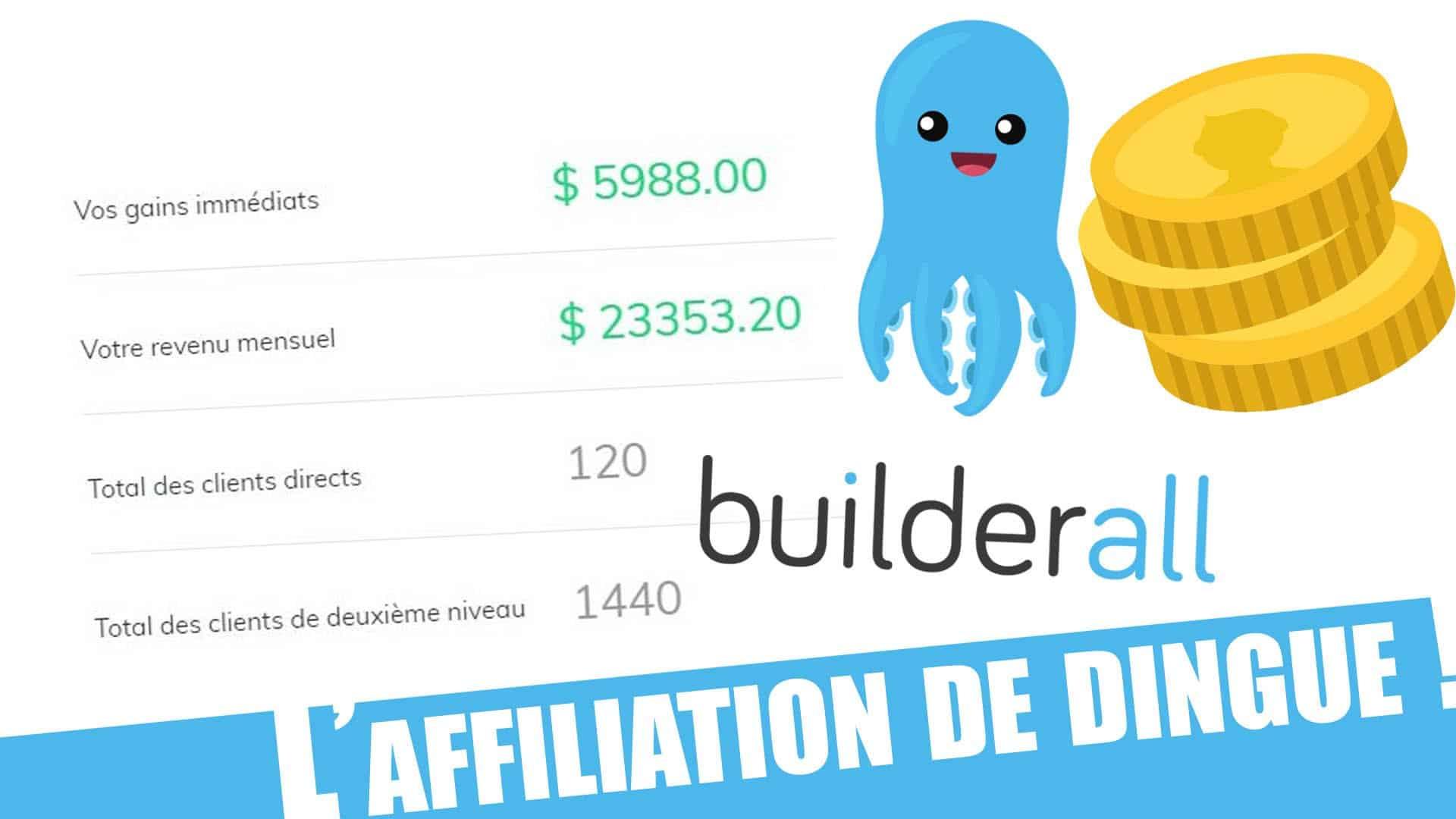 L'affiliation de builderall est une occasion incroyable, rejoignez builderall france avec ces résultats !
