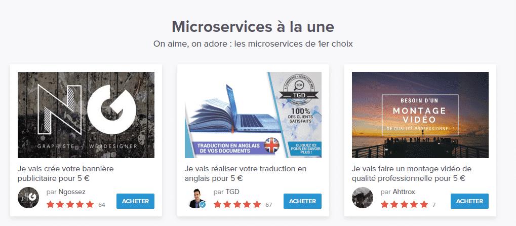 5euros.com est l'alternative française à fiverr