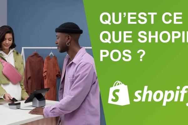Un homme explique ce qu'est shopify pos et à quoi ça sert.