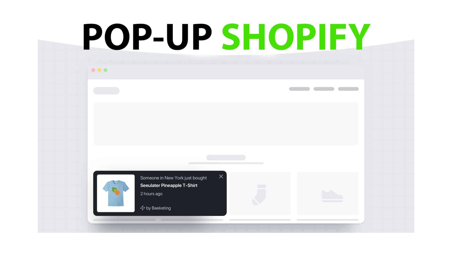 Pop up shopify pour la newsletter ou code promo