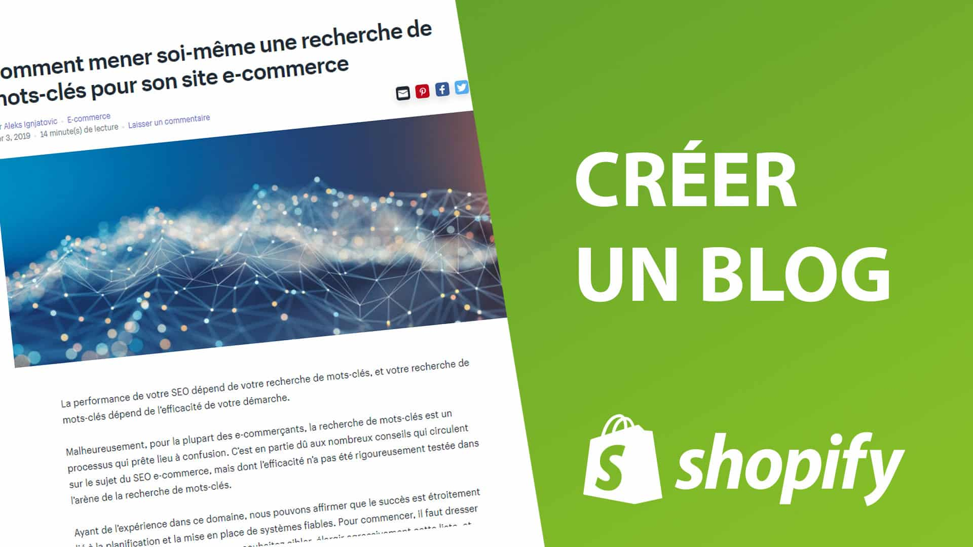 Comment créer un blog sur Shopify ?