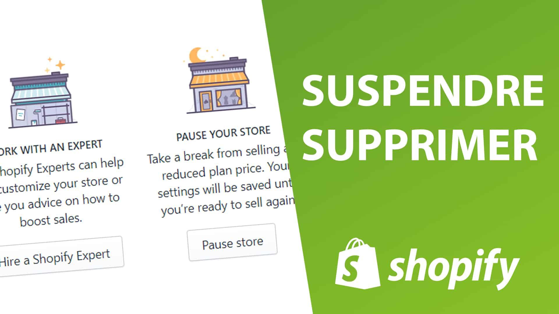 Comment résilier, arrêter, supprimer ou désactiver shopify ?
