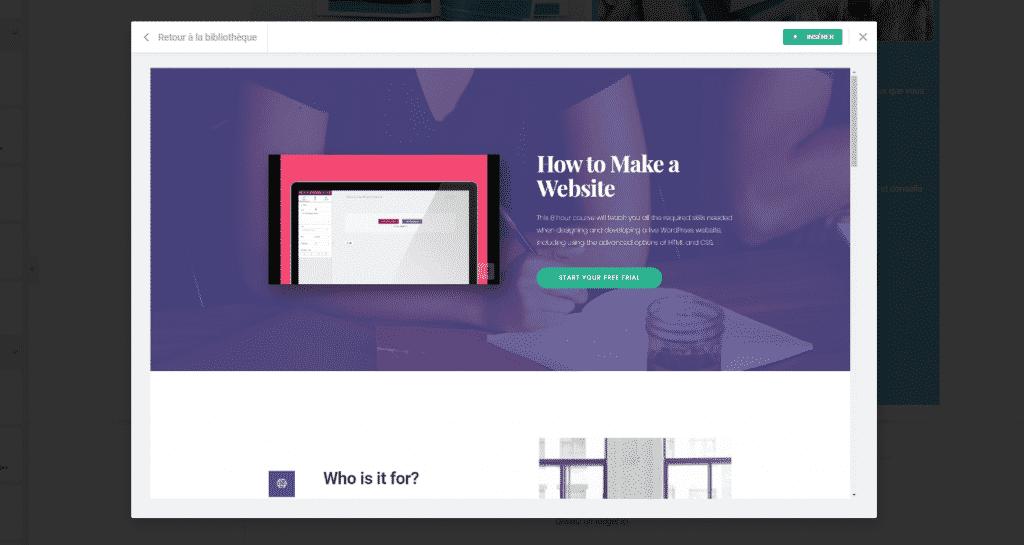 Elementor est un page builder comme Divi, qui est meilleur.
