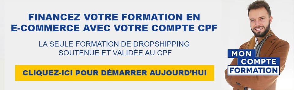 Financer sa formation de dropshipping et e-commerce avec le compte CPF