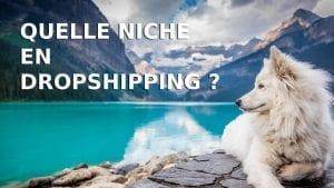 Un chien qui est une niche en dropshipping et ses idées de produits en e-commerce sur l'ultra niche.