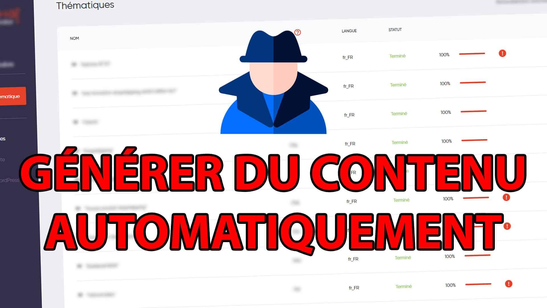 Comment générer du contenu SEO automatiquement en black hat ?