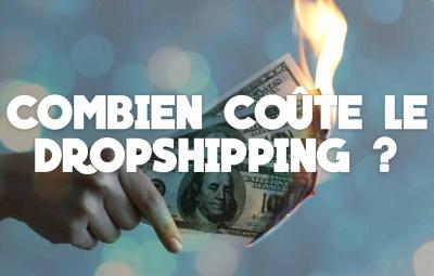 De l'argent et des dépenses sont montrées avec des dollars et euros pour les coûtes en dropshipping