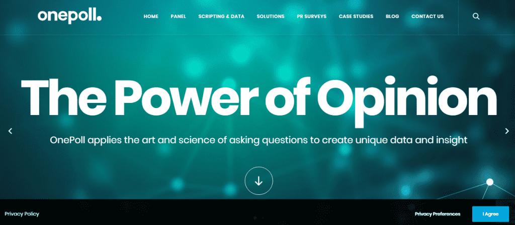 Sondages bien rémunérés - OnePoll est une plateforme de renom