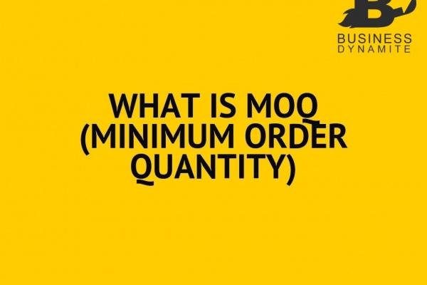 MOQ - Quantité minimum d'achat