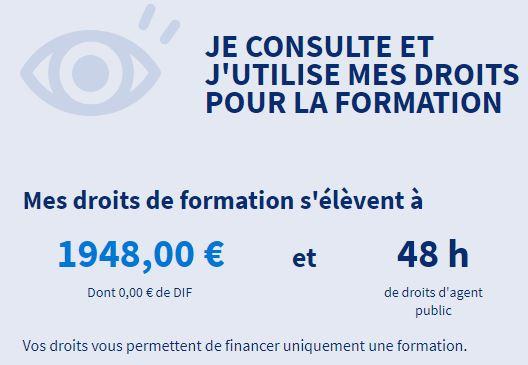 Le montant des droits CPF