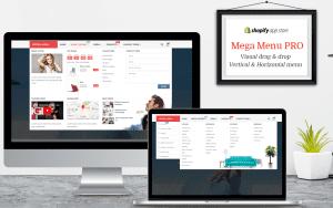 Des mega menu sur shopify qui sont gratuits et responsive pour une belle boutique avec des images.