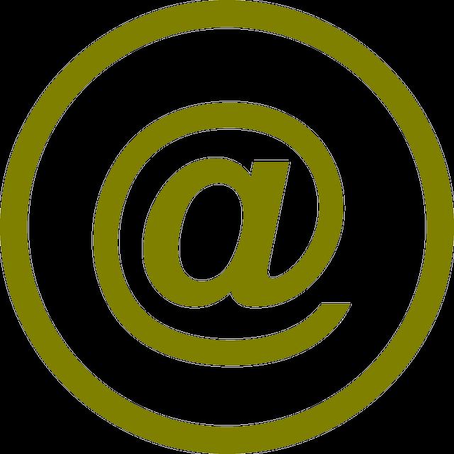 Adresses mail - Symbole de la messagerie